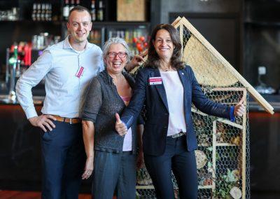 De organisatoren: Arien de Korte, Harmien Haan en Marlise Vroom