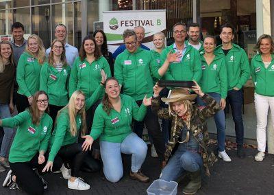 Het team vrijwilligers